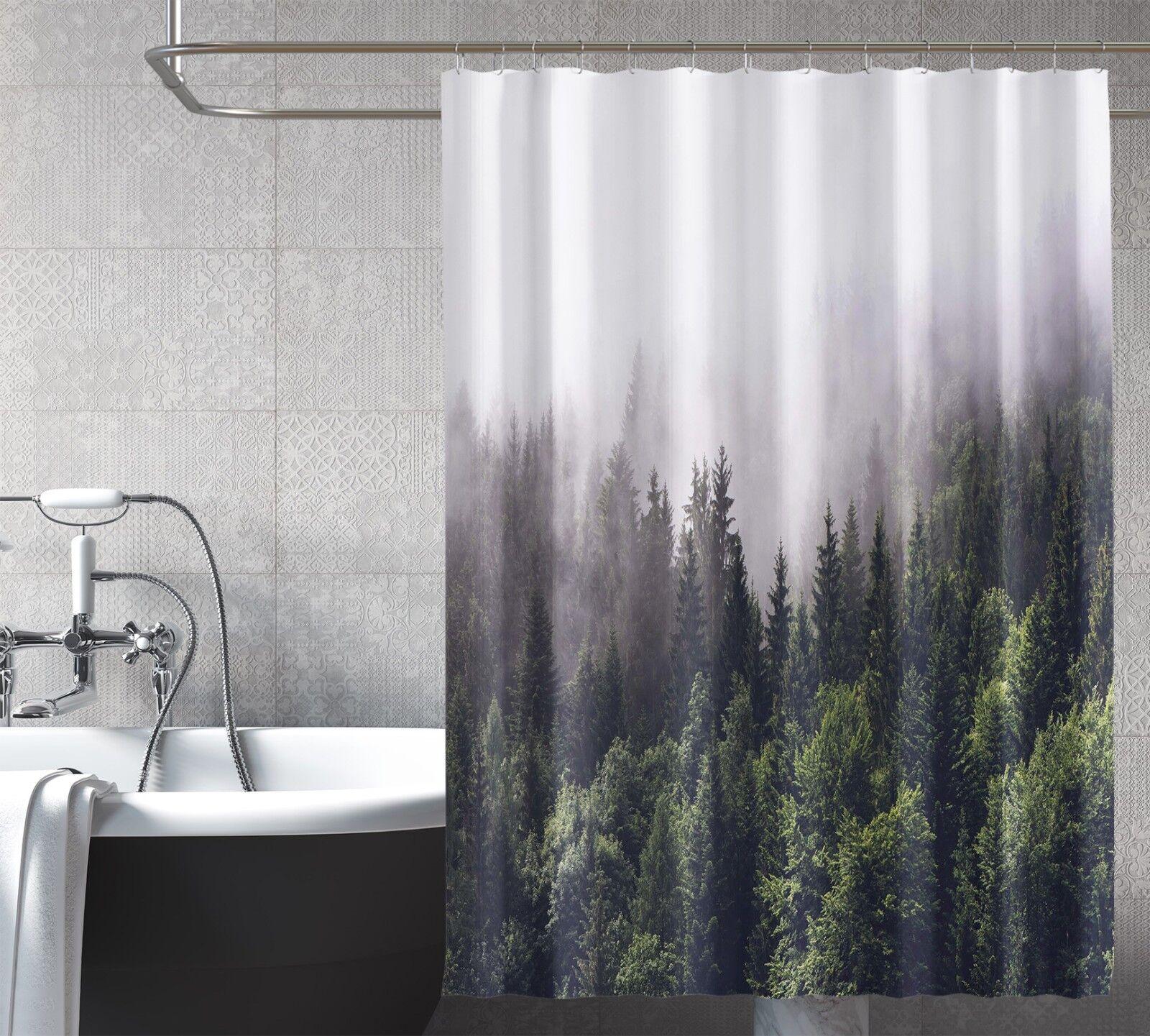 3D Forêt Nature 21 Rideau de Douche Imperméable Fibre Salle de Bain Home Windows Toilette