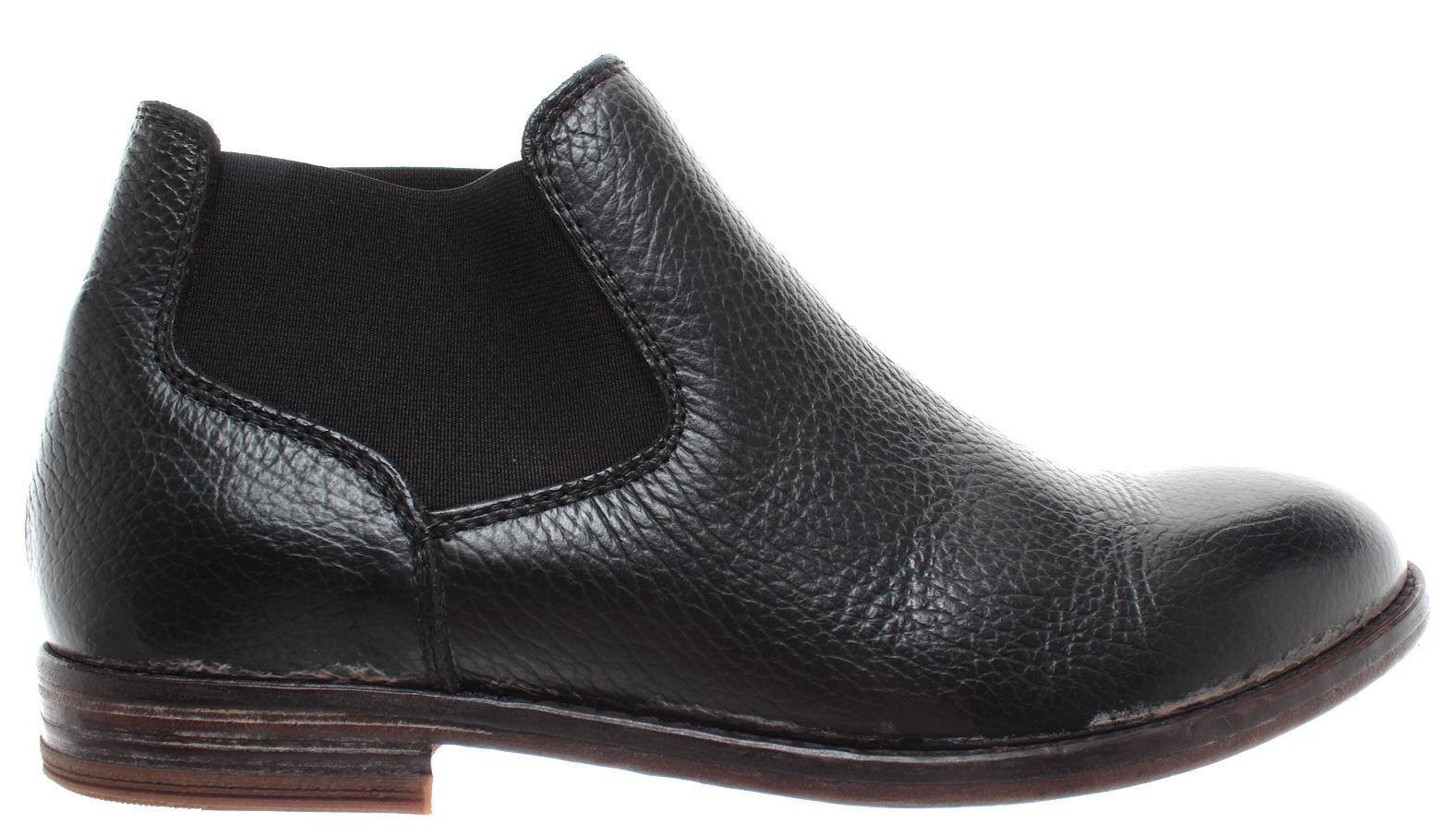 Moma zapatos señora señora señora botines 45804-y2 cuero negro nuevo  100% precio garantizado