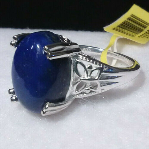 Lapis Lazuli Ring in Sterling Silver TGW 6.20 cts
