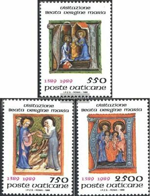 Objective Vatikanstadt 973-975 Fine Used complete.issue Cancelled 1989 Maria Heimsuchu With A Long Standing Reputation