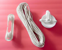 Clothesline Set 2 Pulley Spreader Cotton Rope Outdoor Laundry Weather Resistant