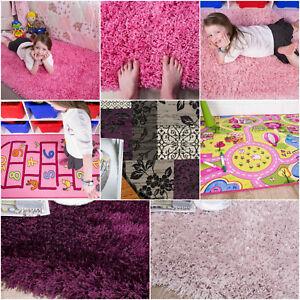 Soft Fluffy Shaggy Baby Pink Purple Cheap Girls Rugs Small