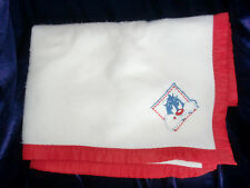 BABY LOONEY TUNES SYLVESTER CAT WHITE RED BABY BLANKET FLEECED ACRYLIC NYLON