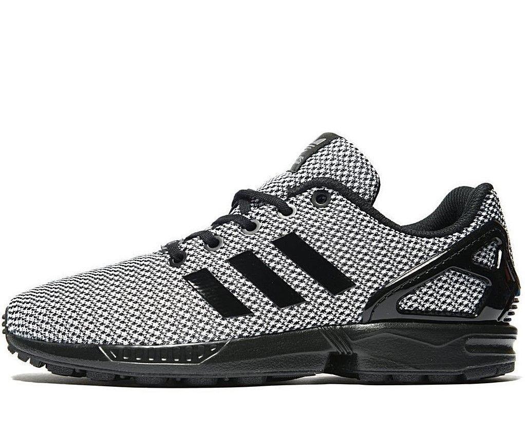 Adidas Originals ZX Flux ® gris Noir / blanc  Texture Knit Upper1