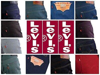 Levis 501 Original Shrink-to-Fit Men's Jeans Many Colors Sizes 32 30 34 36 38 40