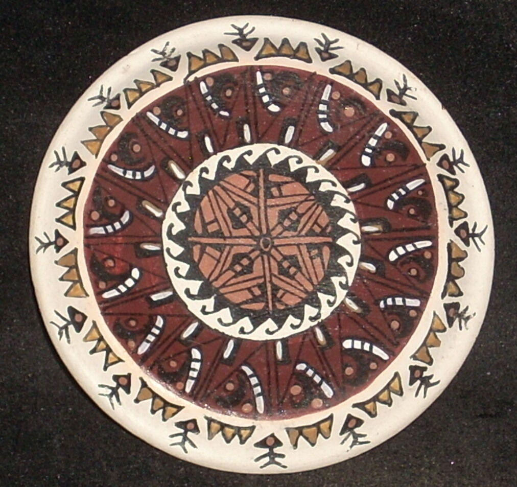 Miniature Southwest Native American Indian G. Bogulas Platter  3824 IGMA