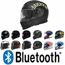 TORC T14B Mako Bluetooth Full Face Motorcycle Dual Visor Helmet - DOT ECE NEW