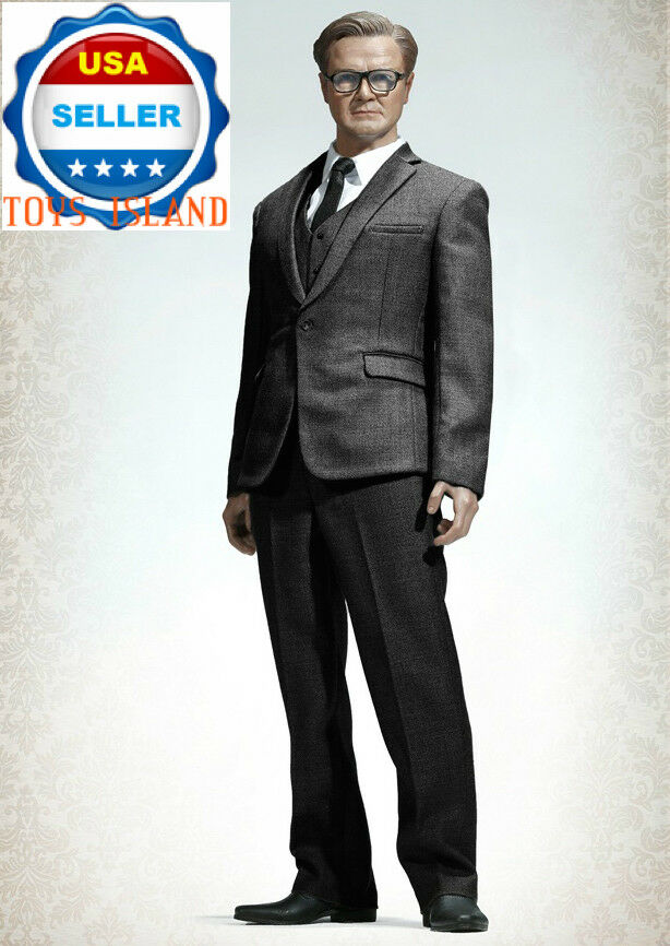 1/6 Uomo Business Suit Set Dark Gris For 12  Hot Toys PHICEN Male Figure ❶USA❶