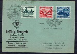 Deutsches Reich satzbrief MiNr 666 - 668 avec SST en Suisse tourné-afficher le titre d`origine 9ChLn9Vc-07145806-852562509