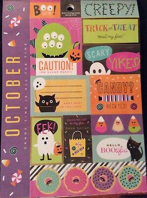 Calendar Month December Christmas Foil Cardstock Scrapbook Stickers