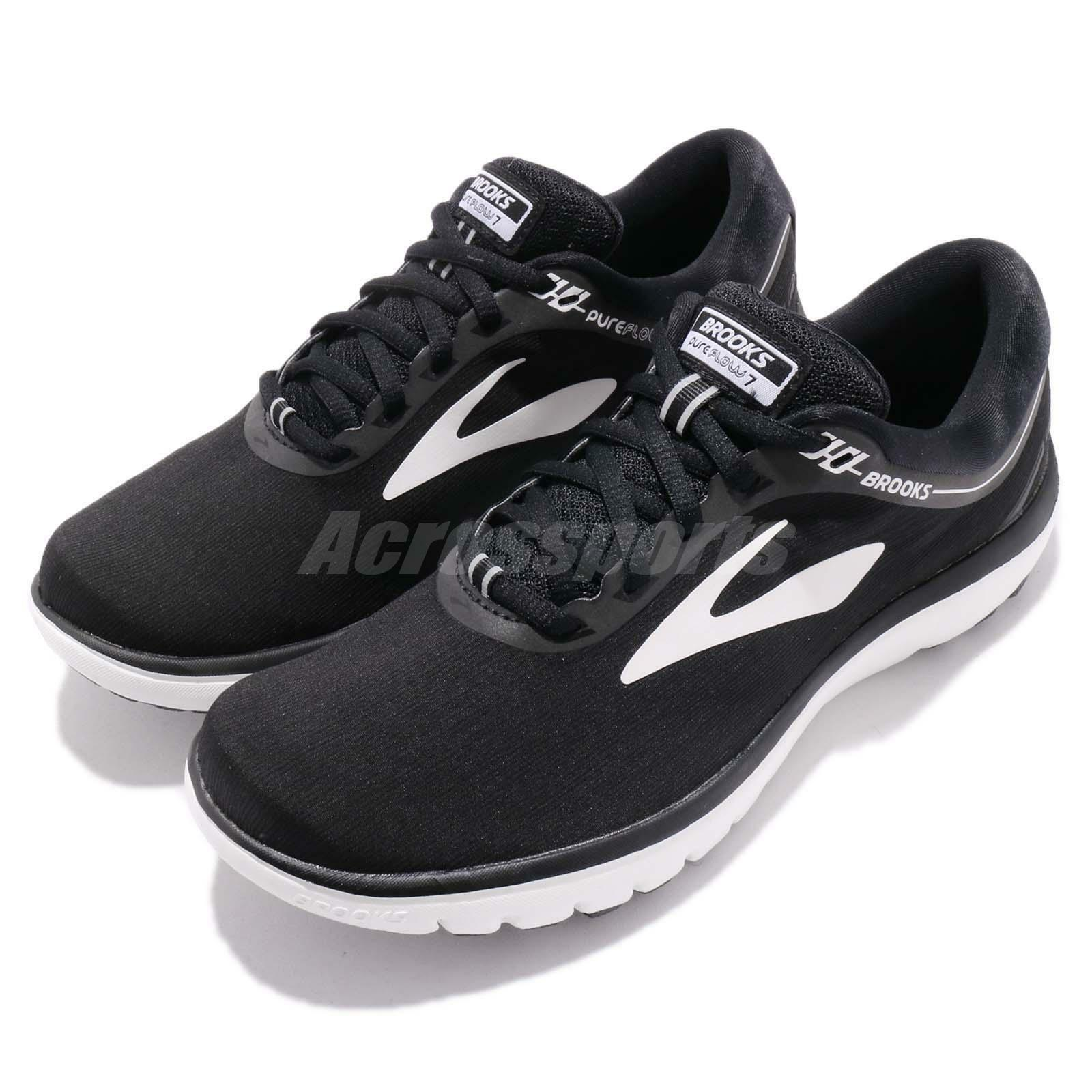 Brooks PureFlow 7 VII nero bianca donna Running scarpe scarpe da ginnastica 120262 1B