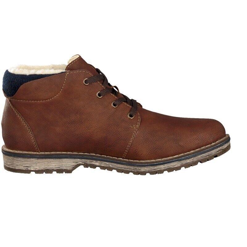 Rieker Antistress Herrenschuhe Stiefel Stiefel Schuhe Leder Braun 39211-23 Gr.46