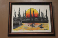 "2000 ""The Crossing"" Original painting by Don Flett Winnipeg Manitoba Preview"