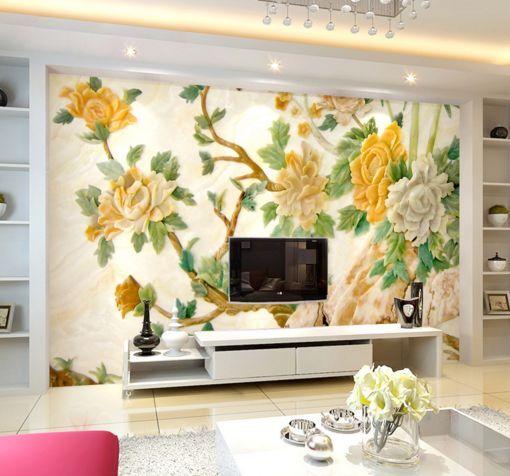 3D Blühende Bäume 657657 Fototapeten Wandbild Fototapete BildTapete Familie DE