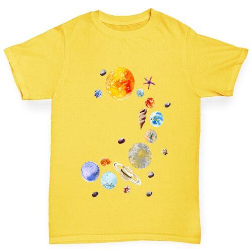 Twisted Envy Boy/'s Seashell Solar System T-Shirt