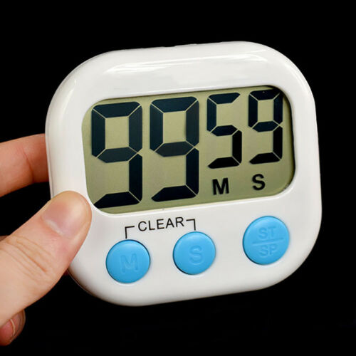 Kitchen Large LCD Digital Cooking Timer Count Down Up Clock Loud Alarm Magnetic