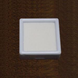 5-Pcs-40mm-GLASS-TOP-SQUARE-GEMSTONE-DISPLAY-STORAGE-WHITE-INSERT-BOX-GEM-POT