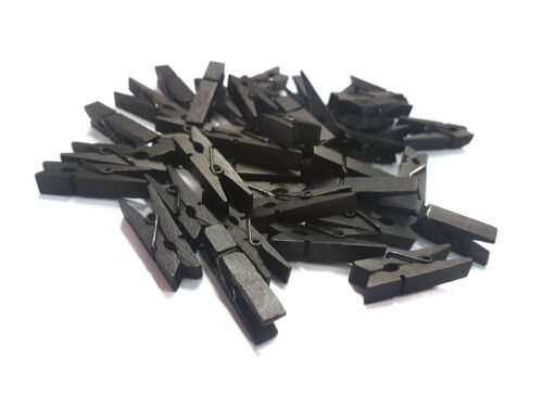 UK Seller Mini Pegs Black 3.5cm Small Wooden Peg Choose pack size wood