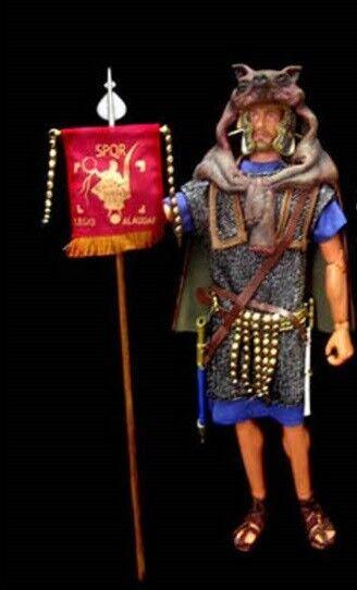 Ignite 1 6 escala 12  Figura De Acción Julio César legión romana vexillarius AR-031