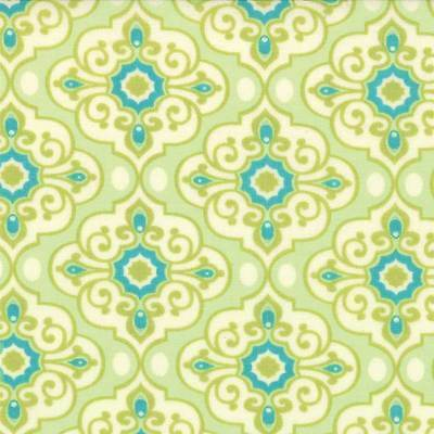 Chance of Flowers Price is for 28 inches Green 17762-13 Moda 100% Cotton