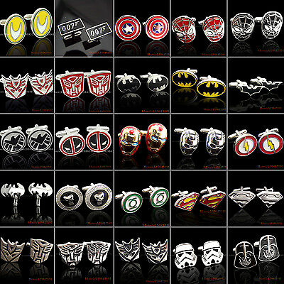 SUPER HERO CUFFLINKS MENS WEDDING NOVELTY SUPERHERO CUFF LINKS New In Stock