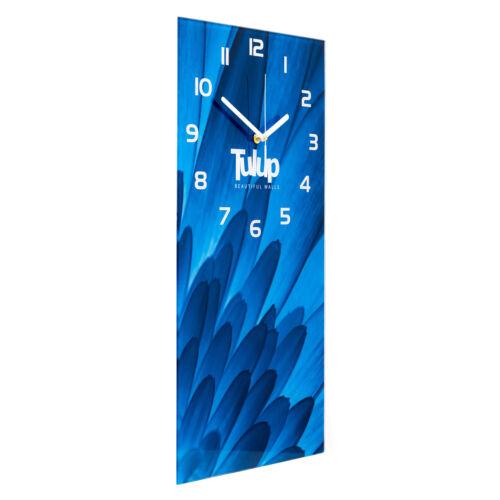 Tulup Glasuhr Wanduhr Küchenuhr Echt-Glas 30x60 Holz Braun
