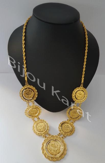 Ceyrek Tüm Altin Kolye Gold Gefüllt Kette Atatürk Kette 22 KGP Echt Vergoldet