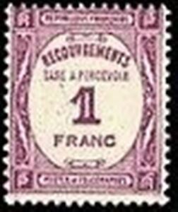 FRANCE-STAMP-TIMBRE-TAXE-YVERT-N-59-034-RECOUVREMENT-1F-LILAS-034-NEUF-xx-LUXE-D544