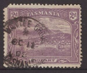 Tasmania-WATTLE-GROVE-1908-type-1b-pmk-on-2d-pictorial-rated-S-6-by-Hardinge