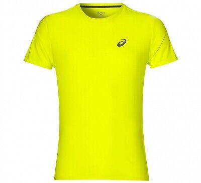 Asics MotionDry Lightweight Running SS T-Shirt Mens Fluorescent Yellow - XXL | eBay