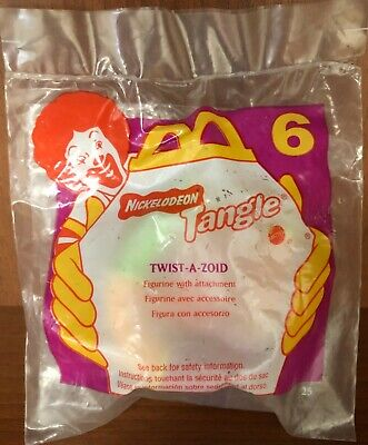 Sealed! Nickelodeon TANGLE TWIST-A-ZOID #2 New 1996 McDonalds Happy Meal