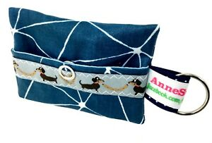 Kackbeutel-Hundetueten-Tasche-Hundekotbeutel-Spender-Waste-Bag-blau-splitter