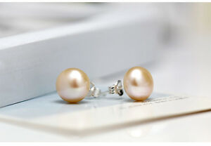 7mm-925-Sterling-Silver-Freshwater-Pearl-Stud-Earrings-Champagne