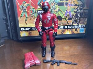 GI JOE ARAH 1985 Cobra Crimson Guard 100% COMPLETE!!  NEAR FLAWLESS!! HASBRO