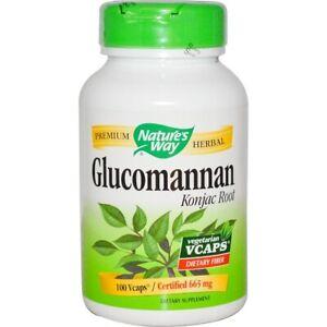 Glucomannan-Konjac-Wurzel-665mg-X-100-Veg-Kapseln-Natures-Way