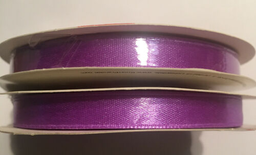 2 x Satinband Lila Band  10 mm 10 m  Satin Ribbon 216310265 Hochzeit Taufe