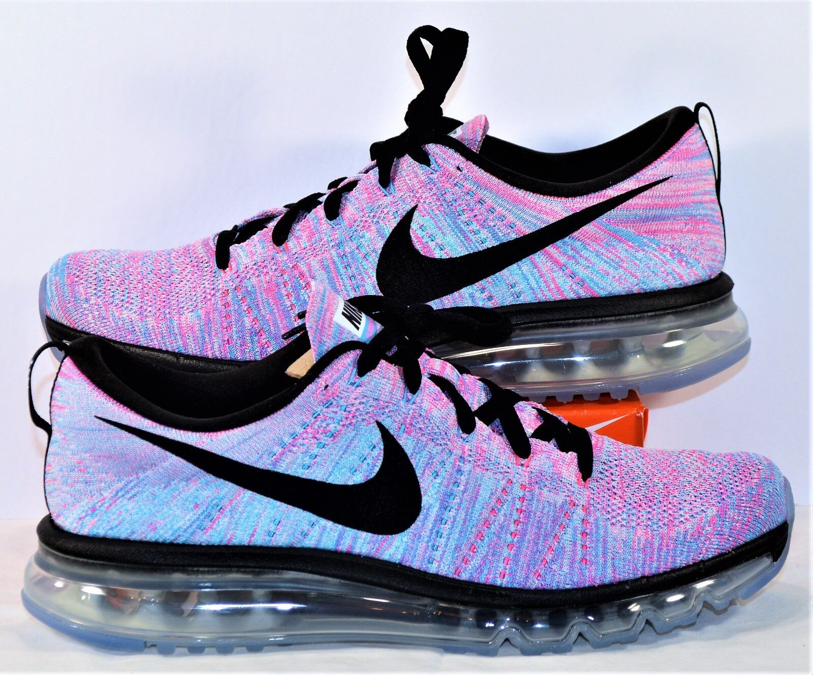 Nike Flyknit Air Max Blue & Pink Black Women Running Shoes Sz 12 NEW 620659 104 Cheap and beautiful fashion
