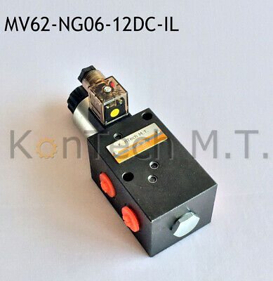 Stecker Leckölanschluss inkl Hydraulik Magnetventil 8//3-Wegeventil NG06 24V DC