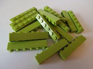 Lego-Clasico-15-Bloques-3009-verde-claro-Brillante-Amarillento-Verde-1x6-BOTONES