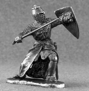 Metal-1-32-scale-Medieval-French-Knight-Attacks-Tin-Toy-Soldiers-54mm