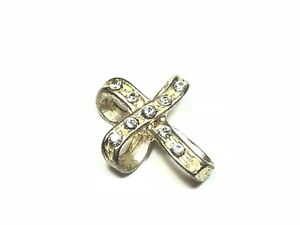 Unique-925-Sterling-Silver-Ribbon-Style-Cross-Pendant-Charm-Signed-C-034