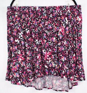 Torrid-Women-039-s-Floral-Pleated-Skater-Drawstring-Skirt-Multi-color-Size-3