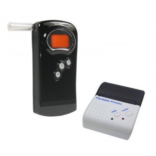Alcohawk PT500 Breathalizer Breathalyzer Alcohol Tester Pro Kit With Printer