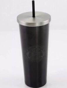 Image Is Loading Starbucks Matte Black Stainless Steel Tumbler 24 Oz