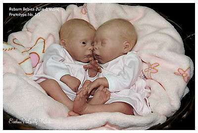"Preemie soft vinyl reborn doll KIT Twins ""Mavie""&""Julie"" by Evelina Wosnjuk"