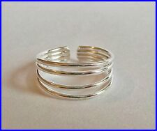 Sterling Silver (925) Adjustable Four Rings  Toe Ring !!       Brand New !!