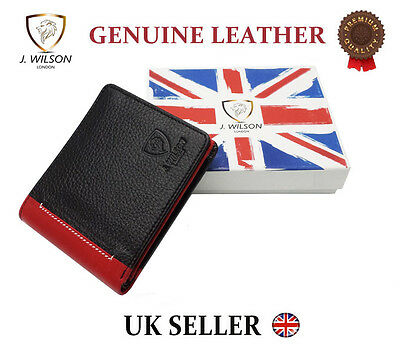 "Designer ""J Wilson"" 5229 Real Genuine Mens High Quality Leather Wallet Purse Reg"