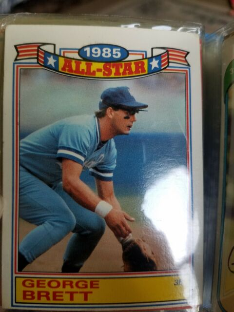 1986 Topps Glossy George Brett 1985 All Star Baseball Card