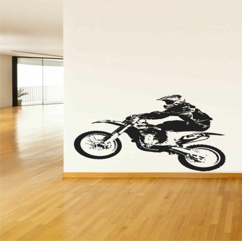 Dirt Bike Wall Vinyl Sticker Decal Mural Racer Racing Sport decor art #953