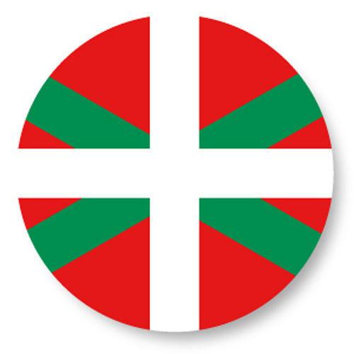 Magnet Aimant Frigo Ø38mm Drapeau Flag Pays Basque Bayonne